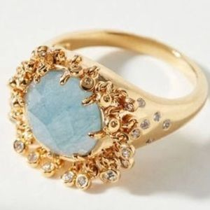 ANTHROPOLOGIE GOOD DAY SUNSHINE RING